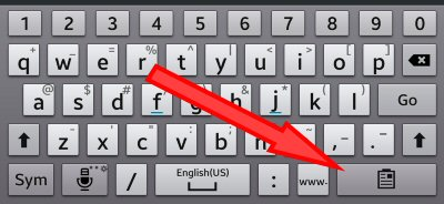 Android Clipboard Key- Keyboard