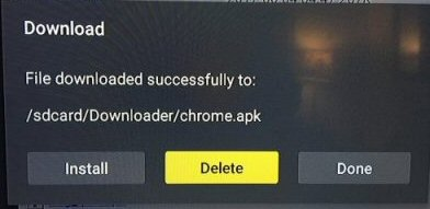 Delete Chrome apk