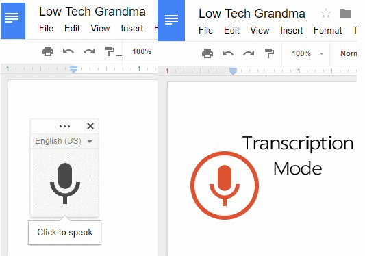 Transcribe Recorded Dictation with Google Docs - Low Tech