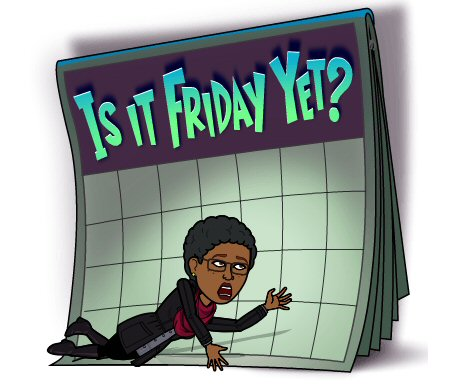Friday Yet? Bitmoji
