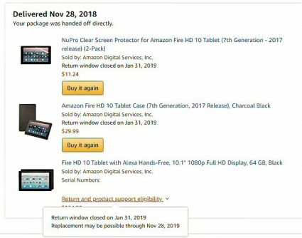 Amazon Fire HD Order