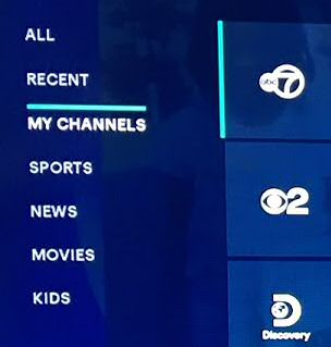 Hulu - My Channels Menu