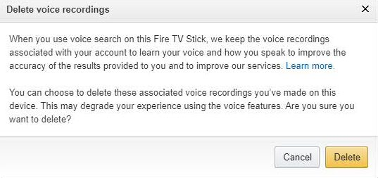 Delete Voice Recordings