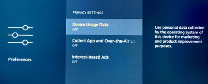 Fire TV Privacy Settings