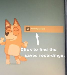 Saved Recording